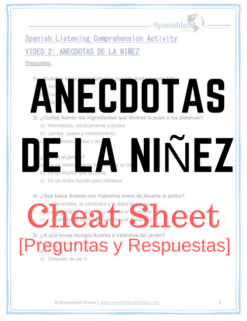 Anecdotas Cheat sheet