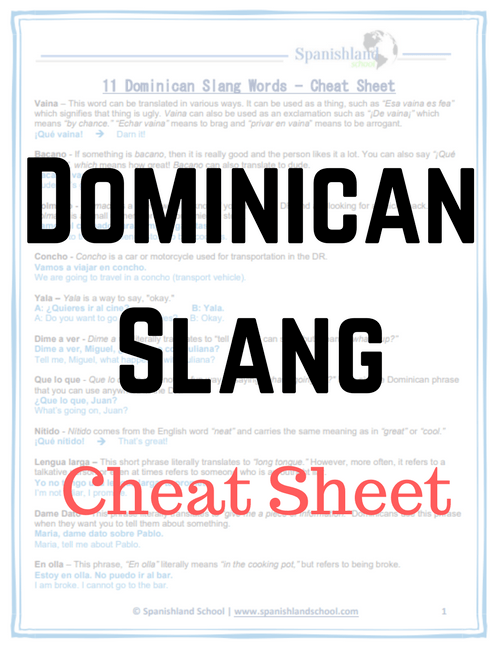 DR Slang Words