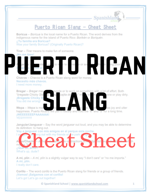 Puerto Rican Slangs | 10 Words and Expressions To Learn
